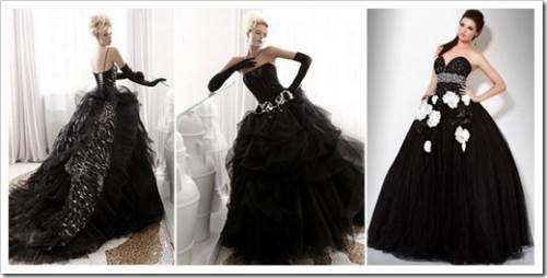 Черный цвет свадебного платья – эту свадьбу запомнят точно все гости