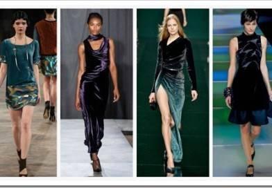 С чем носить бархатное платье?