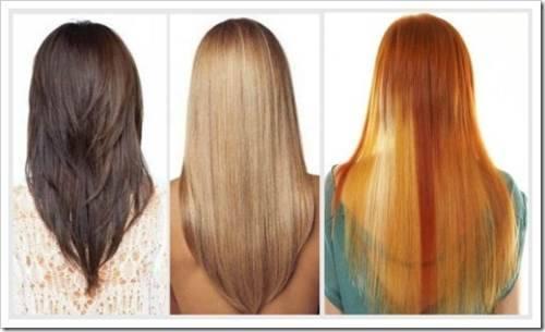 Тяжесть укладки на длинных волосах