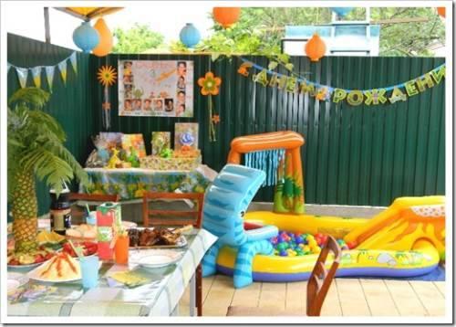 Оригинальный детский праздник во дворе