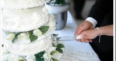 Как резать свадебный торт?