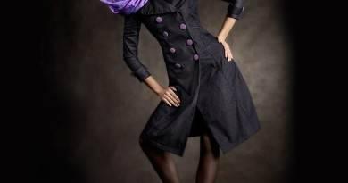 С чем носить черный женский плащ