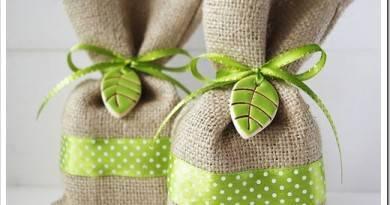 Как сшить подарочный мешочек с завязками?