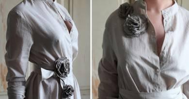 Как носить брошь-цветок