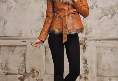 С чем носить кожаную меховую куртку