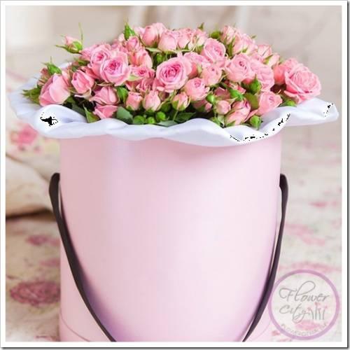 Подготовка цветов к шляпной коробке