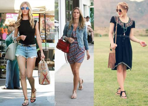С чем носят сандалии женские