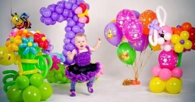 Как украсить детский праздник воздушными шариками