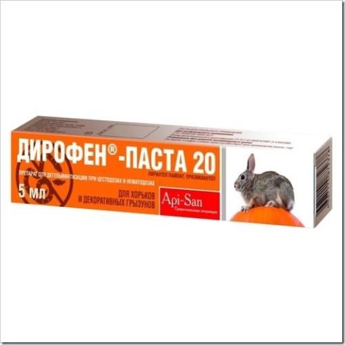 Дирофен – самый распространённый препарат для глистогонки