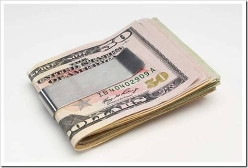 Зажим легче потерять, чем кошелёк
