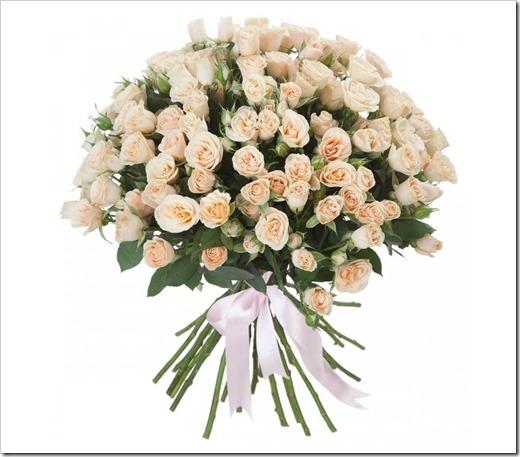 Виды оформления букета из кустовых роз