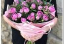 Как собрать букет из кустовых роз?