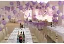 Как можно красиво украсить зал на свадьбу