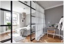 Варианты использования стеклянных перегородок для зонирования пространства
