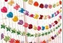 Бумажные гирлянды — что это, виды и как ими украсить комнату