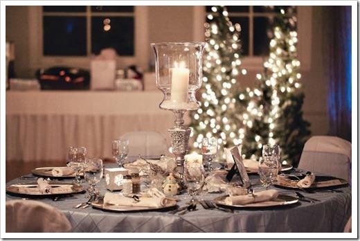 зимняя свадьба освещение