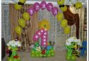 Как красиво оформить детский праздник воздушными шариками