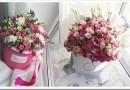 Цветы в шляпной коробке — что это и как её красиво упаковать