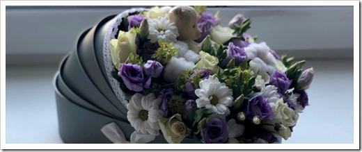 Как оформить оригинальный букет цветов на выписку из роддома