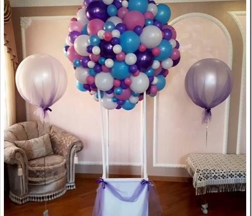 Типичный подход к украшению комнаты шарами